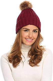 Chigant Women Men Crochet Knitted Ball Stripe Stars Winter Warm Beanie Hat Ski Cap