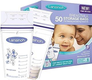Bolsas de Almacenamiento de Leche Materna de Lansinoh, 50 uds. Guarda y conserva la leche materna extraída.