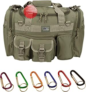 メンズ 18インチ ダッフル モール タクティカル ギア 肩掛け 旅行バッグ キーリングカラビナ付き