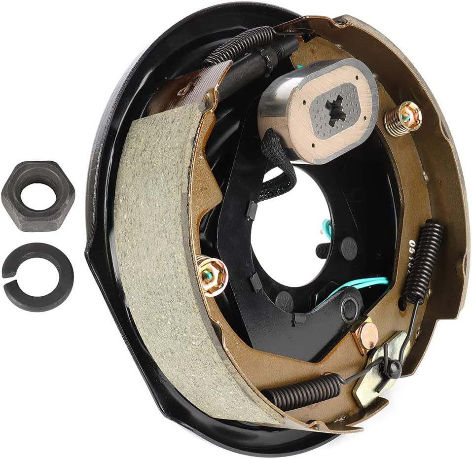 ANGLEWIDE Trailer Electric Brake Assembly - lb. 3500 Direct sale of manufacturer for Max 44% OFF Black A