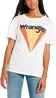 Wrangler Women's Boyfriend Regular Fit Off T-Shirt