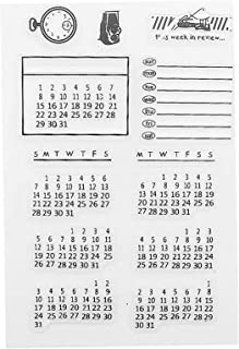 Mixed Calendar Planner Clear Transparent Rubber Silicone Stamps Seal Block for Card Making Scrapbooking Decoration Words J...