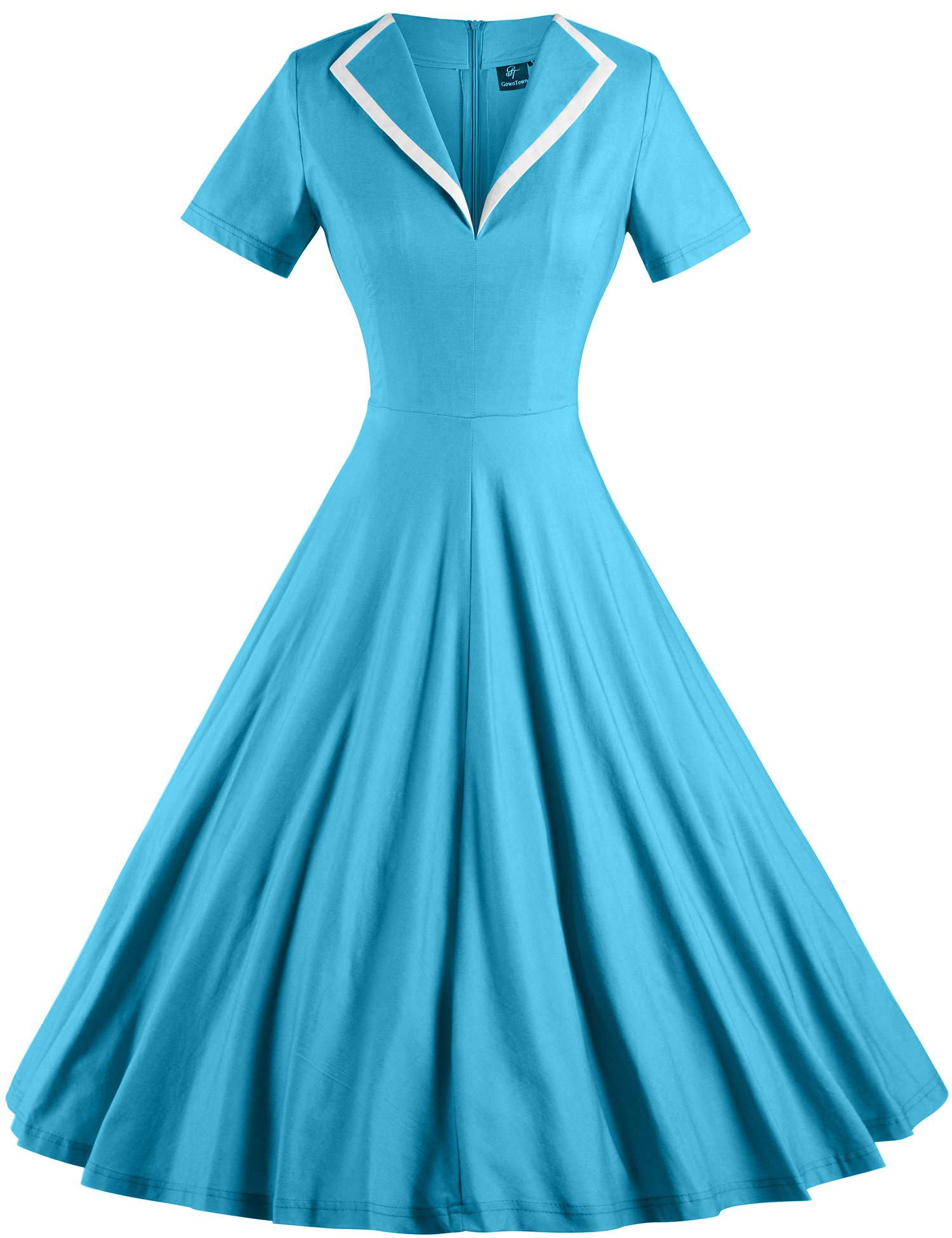 Available at Amazon: GownTown Women's 1950s Retro Vintage V-Neck Party Swing Dress