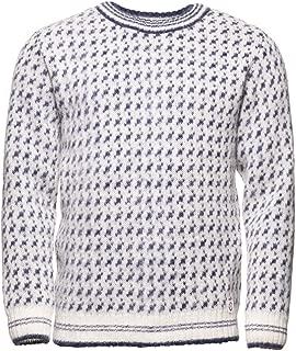 ICEWEAR Íslendingur Men's Sweater Knit Design for Winters Without Zipper 100% Icelandic Wool Long Sleeve