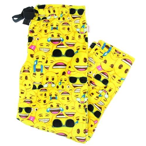129d128f6e71 Fashion Emoji All Over Superminky Fleece Sleep Pants