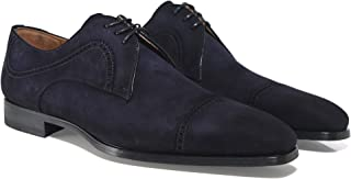 Magnanni Men's Suede Thunder Derby Shoes Navy