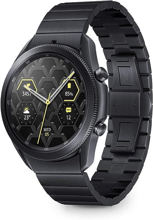 Smartwatch bluetooth, cassa 45mm e cinturino in titanio, saturimetro samsung galaxy watch3 SM-R840NTKAEUB