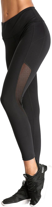Beautyin Women's Yoga Pants Mesh Spicing HighWaist Tummy Control Legging