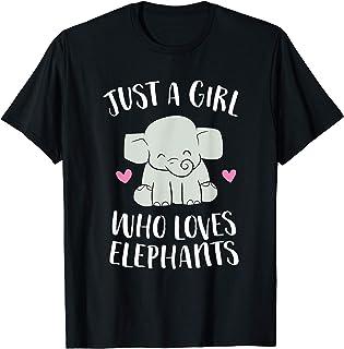 Juste une fille qui aime les éléphants T-Shirt