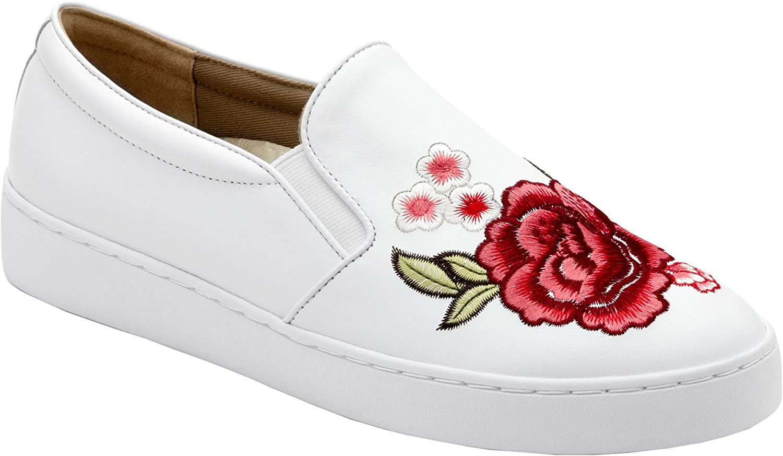 Vionic Womens Midi Floral Slip-On Sneaker