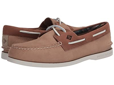 Sperry A/O 2-Eye Plushwave Washable (Tan/Brown) Men