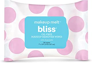 Best Bliss - Makeup Melt Oil-Free Makeup Remover Wipes | Facial Cleansing Wipes w/Chamomile, Aloe & Marshmallow Root for Hydrating Skin | All Skin Types | Vegan | Cruelty Free | Paraben Free | 30 ct. Review