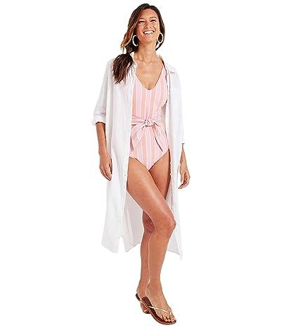 Vineyard Vines Breezy Linen Cover-Up (White Cap) Women