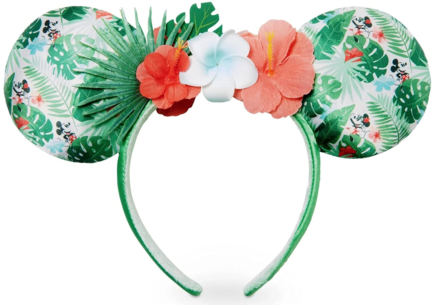 Disney Genuine Parks Exclusive - Minnie Free shipping anywhere in the nation Ears Tropical Mickey Headband