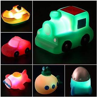 yeesport Bath Toys Set LED Shower Toy Pool Toys Bath Car Toy Floating Toy Bathtub Water Toy for Toddlers Floating Bathtub ...
