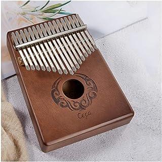 CHENTAOCS Thumb Piano, Kalimba, 17-tone Beginner Portable Thumb Piano, Wood Color, Blue, Pink (Size : H)