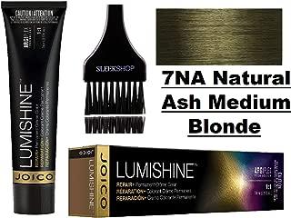 Joico LUMISHINE Repair+ PERMANENT Creme Hair Color (with Sleek Applicator Brush) Cream Haircolor (7NA Natural Ash Medium Blonde)