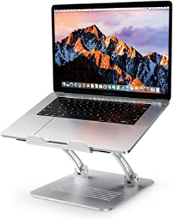 Laptop Stand, OMOTON Height Adjustable Aluminum Laptop Holder with Cooling Function and Laptop Stand Clamp for USB-C Hub, Compatible with All Computers and Laptops of 11-17.3