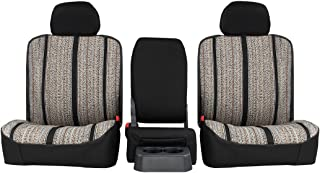 Rear SEAT: ShearComfort Custom Saddle Blanket Seat Covers for Chevy Silverado (2007-2013) in Black for 60/40 Split Back and Bottom w/Adjustable Headrests (Extended Cab)