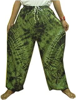 Hippie Cotton Rayon Tie Dye Fisherman Yoka Pants Hippie Baggy