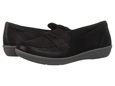 Clarks Ayla Form (Black Synthetic Nubuck) Women