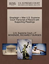 Shapleigh v. Mier U.S. Supreme Court Transcript of Record with Supporting Pleadings