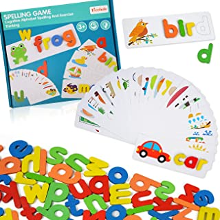 ABC Alphabet Puzzles for Kids 3-5 Years Old - Words Spelling Sorting& Stacking Toys for Preschool Toddlers - Vocabulary Le...