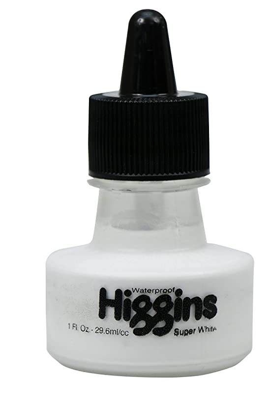 Higgins Super White Pigmented Drawing Ink, 1 Ounce Bottle (44100)