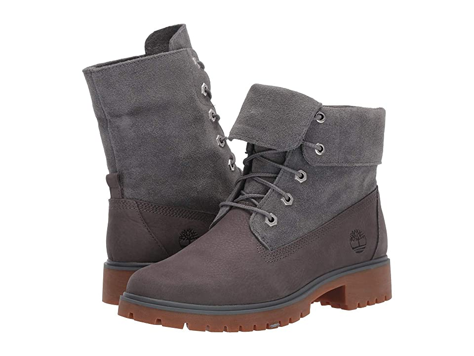 Timberland Jayne Fold Down Boot (Medium Grey Nubuck) Women