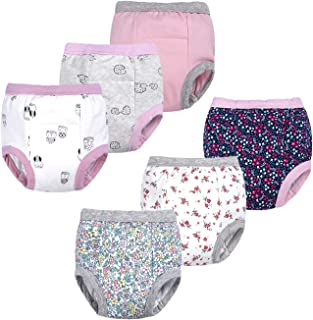 Baby Girls' Toddler Potty 6 Pack Padded Pure Cotton Pee...