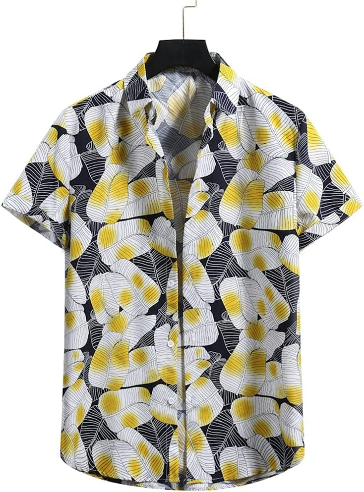 ZSQAW Men Portland Mall Shirt Ethnic Style Print Cheap mail order sales Lapel S Casual Neck