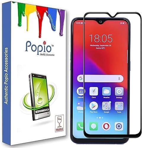POPIO Edge To Edge Full Screen Coverage Tempered Glass Screen Protector For Realme U1 Realme 3 Pro Black