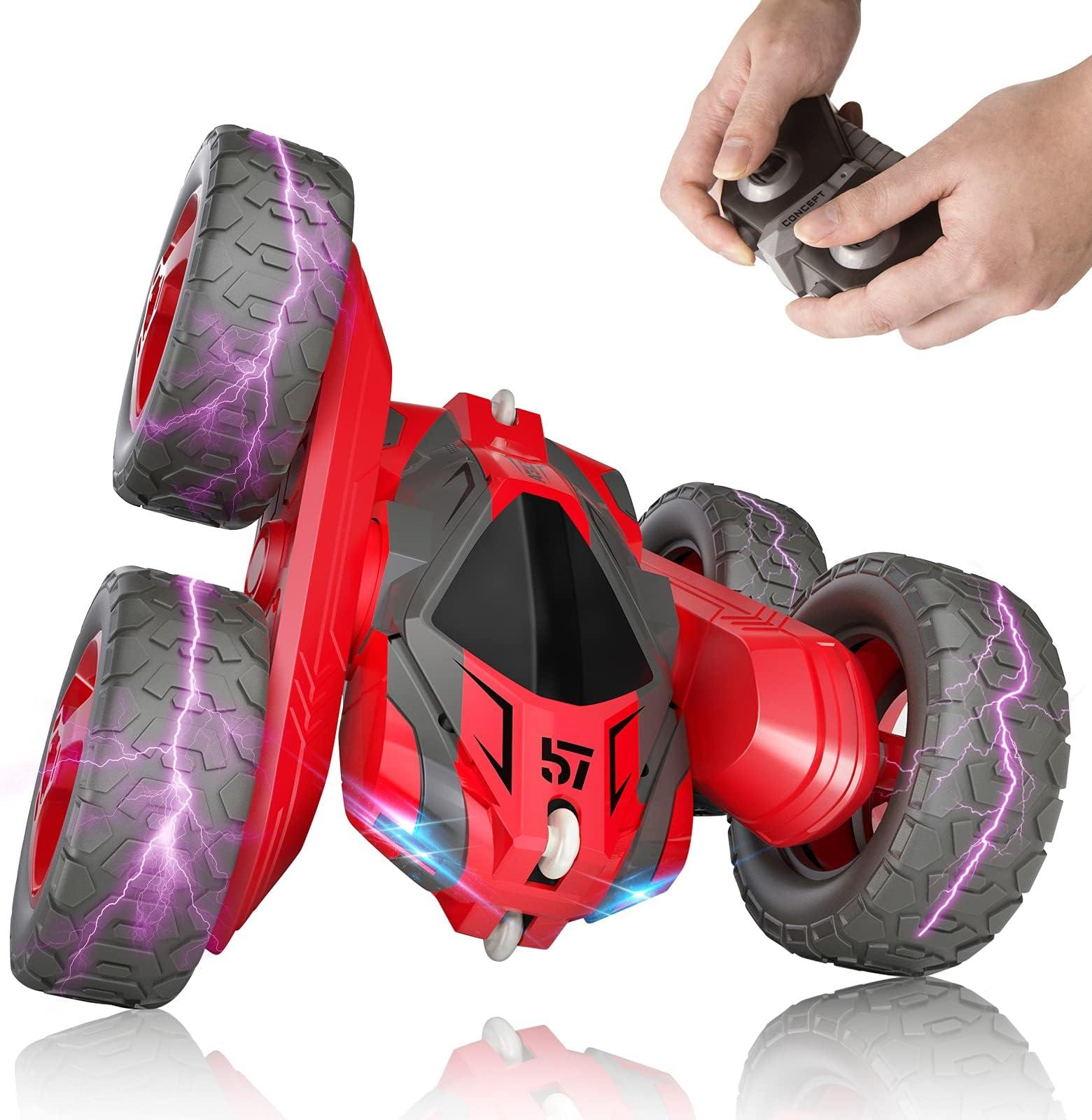 RC Cars Stunt Car 4WD 2.4GHz Double Sided Rotating 360° Fli Remote Control Car