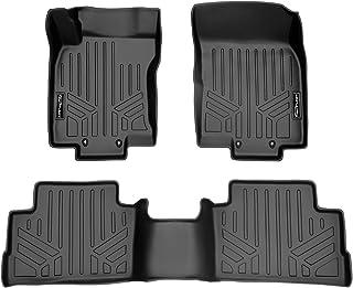 SMARTLINER Custom Fit Floor Mats 2 Row Liner Set Black for 2017-2021 Nissan Rogue Sport