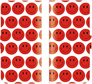 【 ankh 】 手帳型ケース 全機種対応 【 iPod touch6 アイポッドタッチ6専用 】 スマイル ニコちゃん にこ ドット 総柄 にこちゃん smile おもしろい ブック型 二つ折り レザー 手帳カバー スマホケース スマートフォン