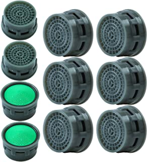 Elcoho 10 Pieces Faucet Aerator Faucet Flow Restrictor Replacement Parts Insert Aerator for Bathroom or Kitchen (10)