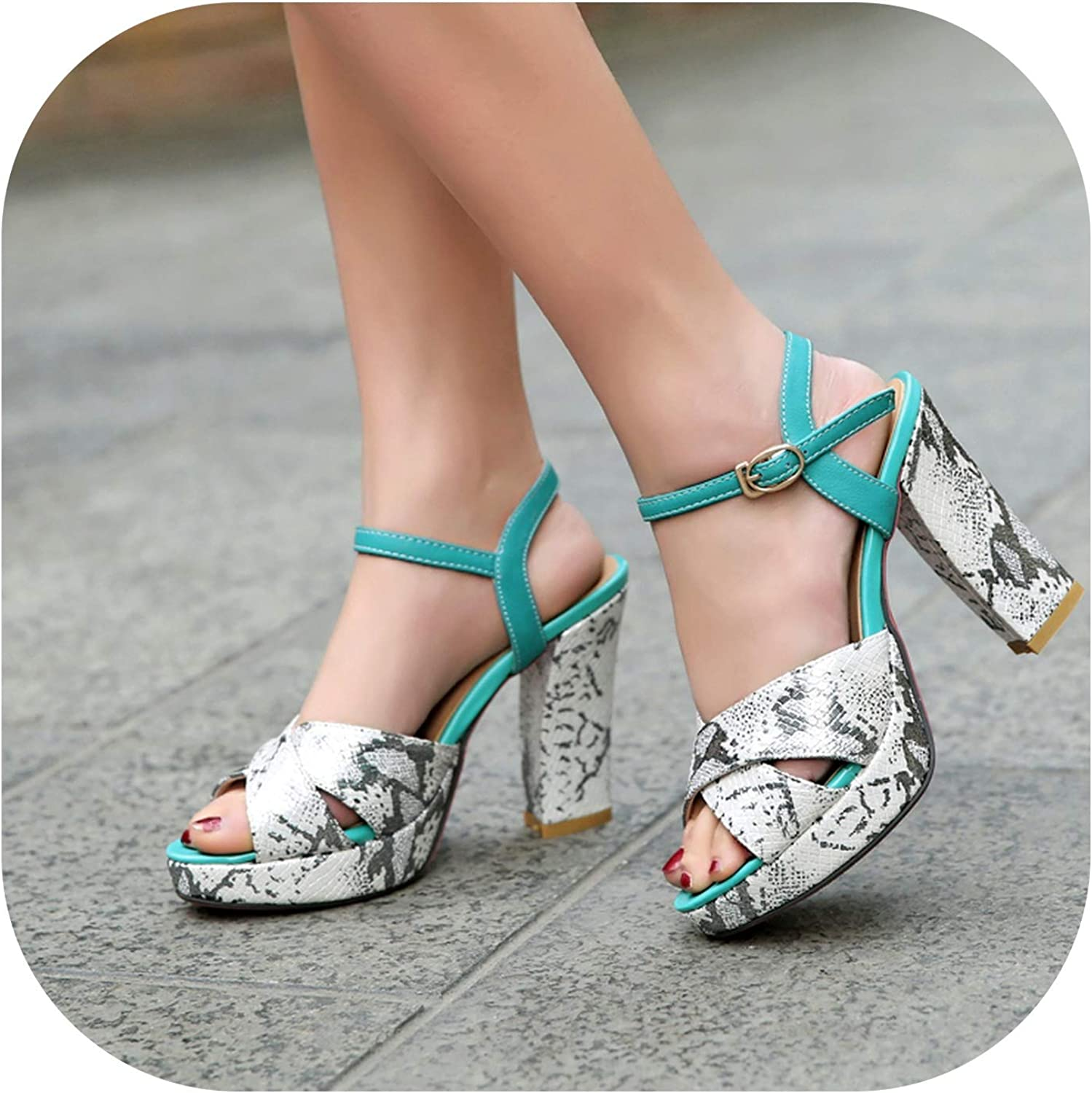 Shigh Heeled Sandals with Thick and The Wind Buckle Waterproof shoes