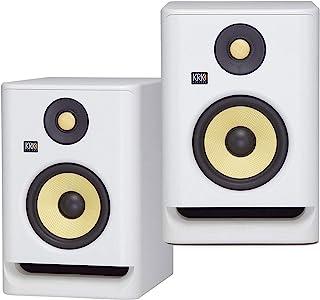 """(2) KRK ROKIT RP7 G4 7"""" Bi-Amped Studio Monitor DSP Speakers White Noise Edition"""