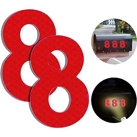 Klebend Hausnummer Schild zum Aufkleben f/ür Briefkasten//Mailbox//Wand//Stra/ßen und T/ür Reflektierende Hausnummer 9 aus Edelstahl 7cm Selbstklebende Hausnummer 2er Pack