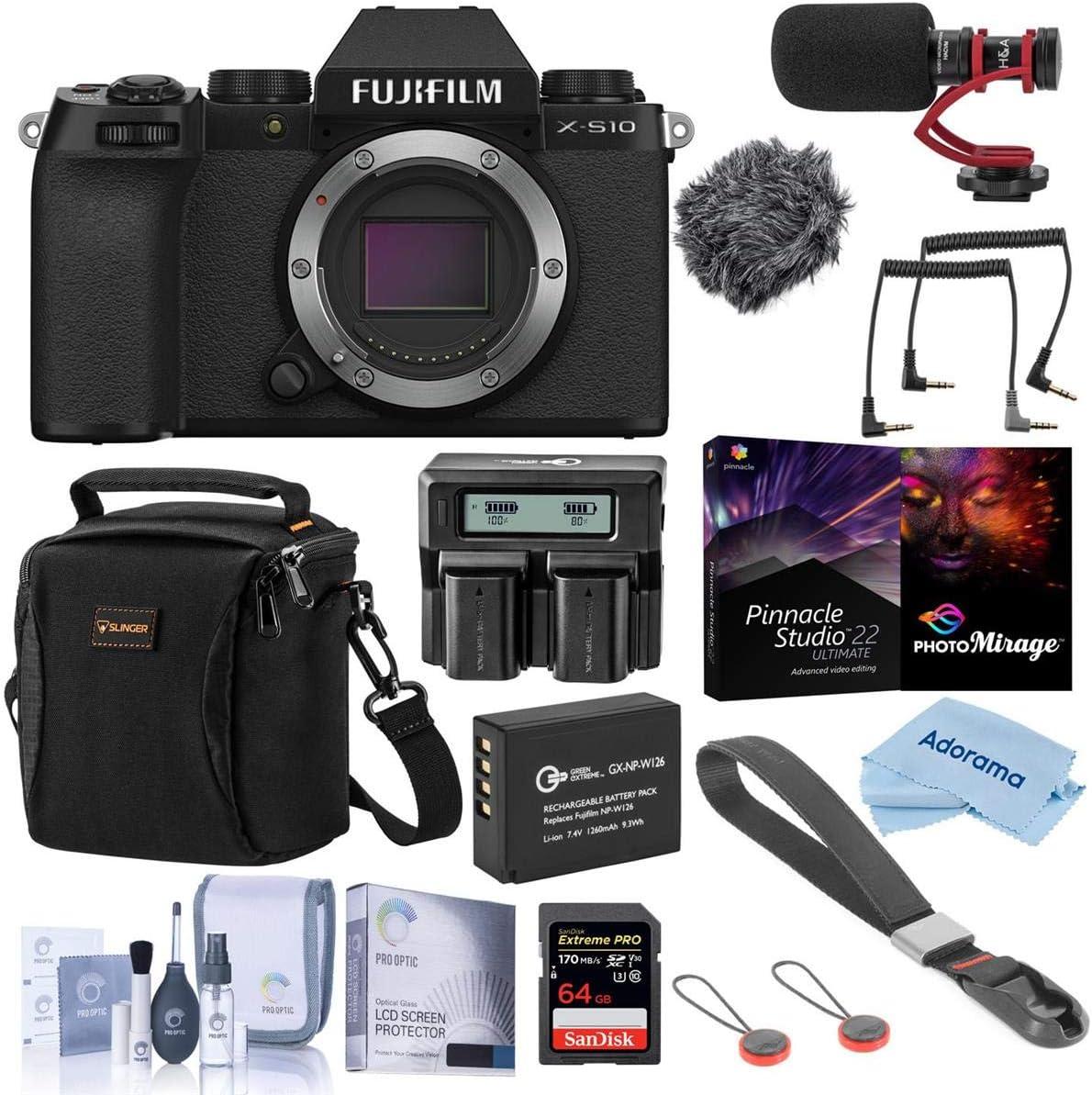 Fujifilm X-S10 trend rank Mirrorless Camera Black - Bundle with Premium Shipping included Ac