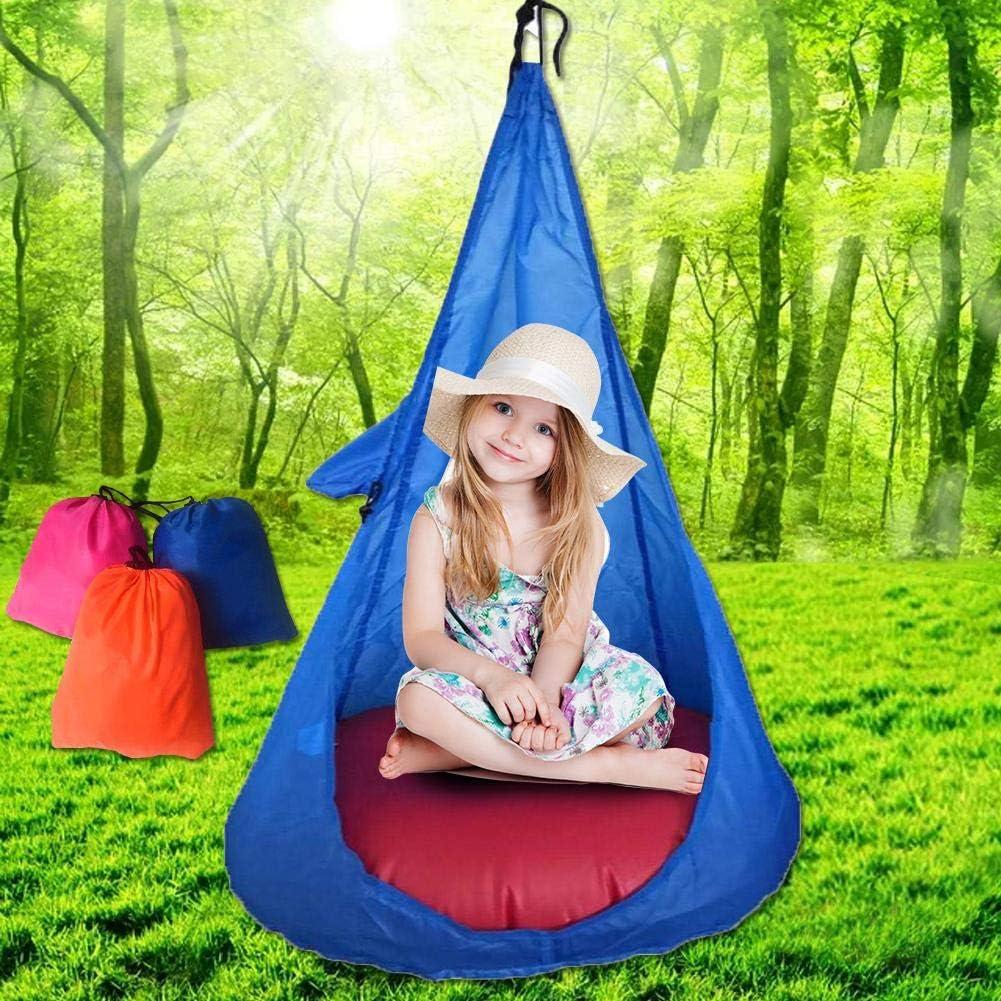 Draulic Home Child Langlebiger H/ängesessel Kids Swing Pod Bequemer H/ängesitz f/ür den Innen und Au/ßenbereich