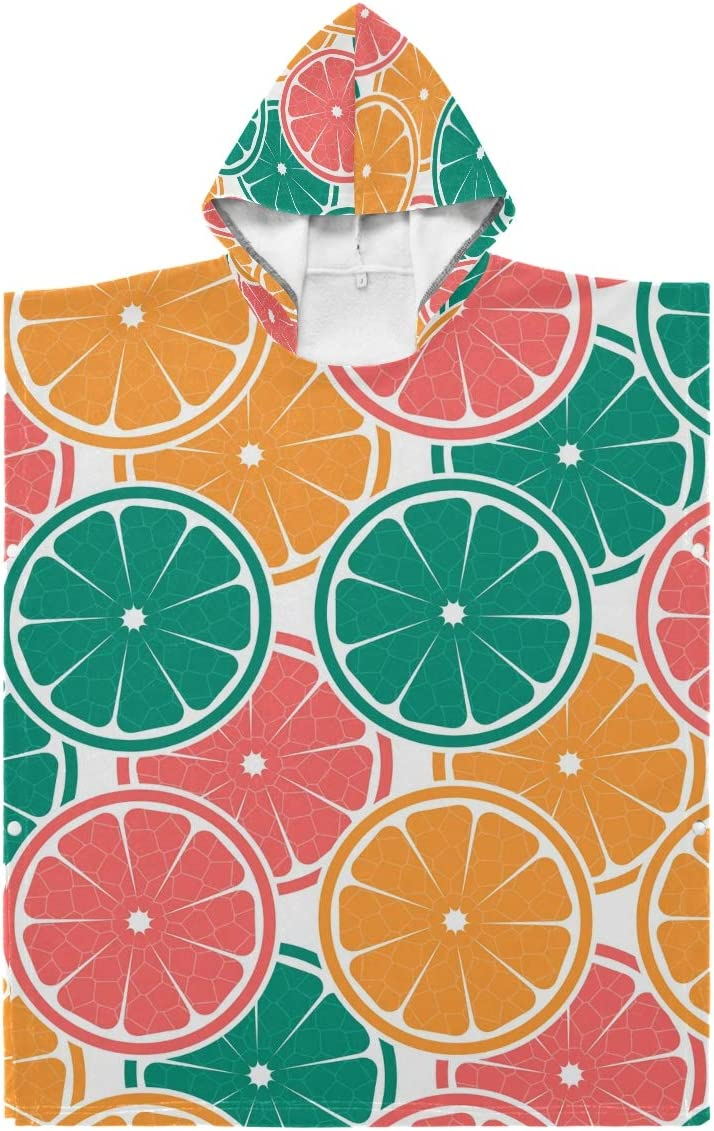 Seattle Mall Kids Hooded Beach Bath Towel Towe Oranges Baby Colorful Colorado Springs Mall -