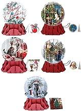3D Pop-Up Card Snow Globe - Large Card Christmas Assortment # 9a-e - Set of 5 Cards