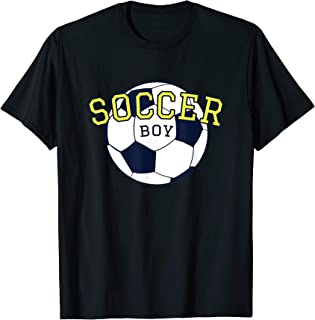 Soccer Gift for Boy 'Soccer Boy' Soccer Theme Party T-Shirt