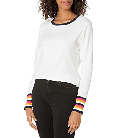 Tommy Hilfiger Classic Fit Striped 3/4 Sleeve T-shirt
