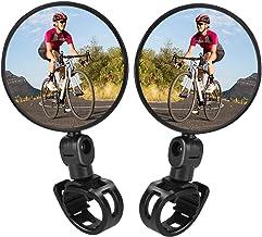 TAGVO Bike Mirrors, 2pcs Bicycle Cycling Rear View Mirrors Adjustable Rotatable Handlebar..