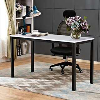 Need Computer Desk 55 inches Computer Table with BIFMA Certification Writing Desk Workstation Office Desk, White Black AC3DB-140