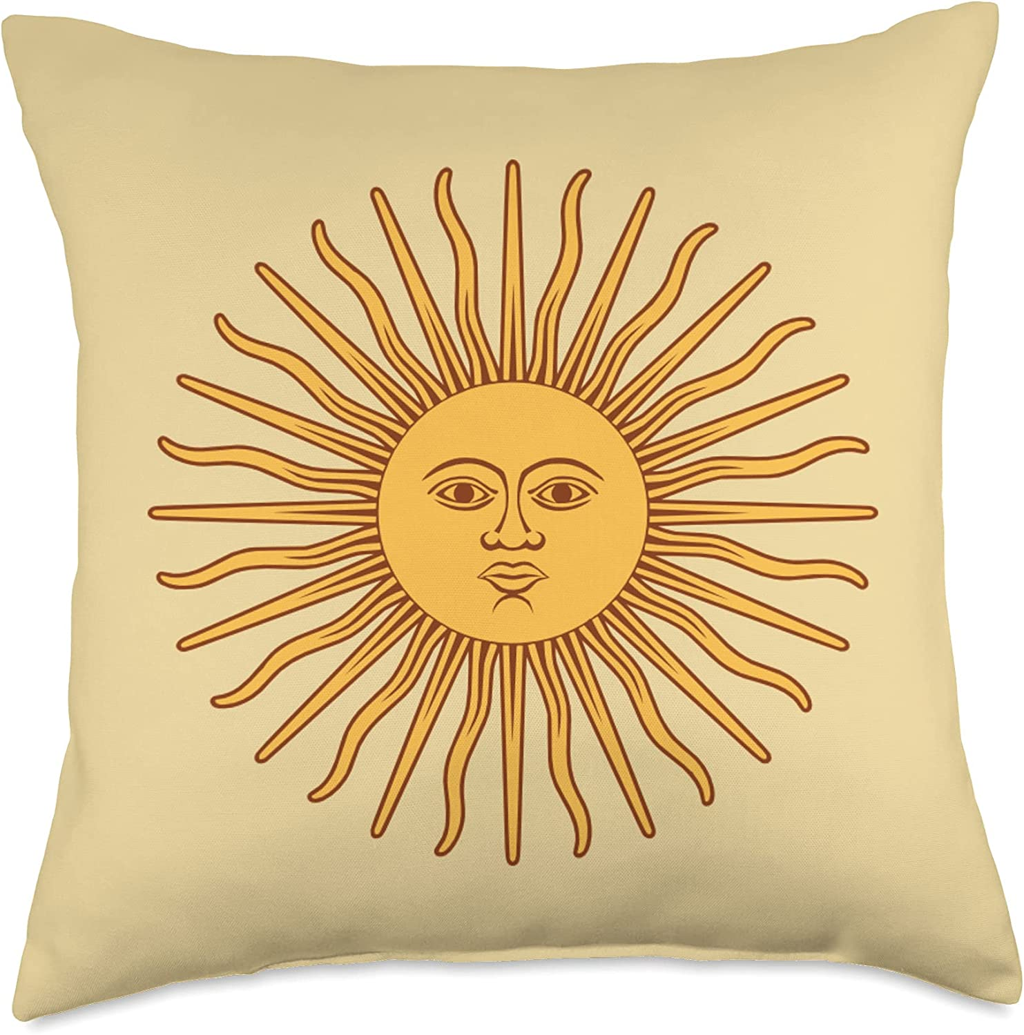 es designs SALENEW very popular! Sun with Face Multicolor 18x18 Pillow Branded goods Throw
