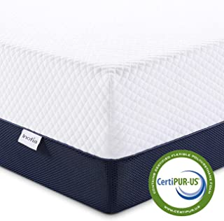 Full Mattress, Inofia 10 Inch Ventilated Cool Gel Infused Memory Foam Double Mattress in a Box, Pressure Relief & Full Support, Medium Firm, 100 Nights Trial, 10 Years Warranty
