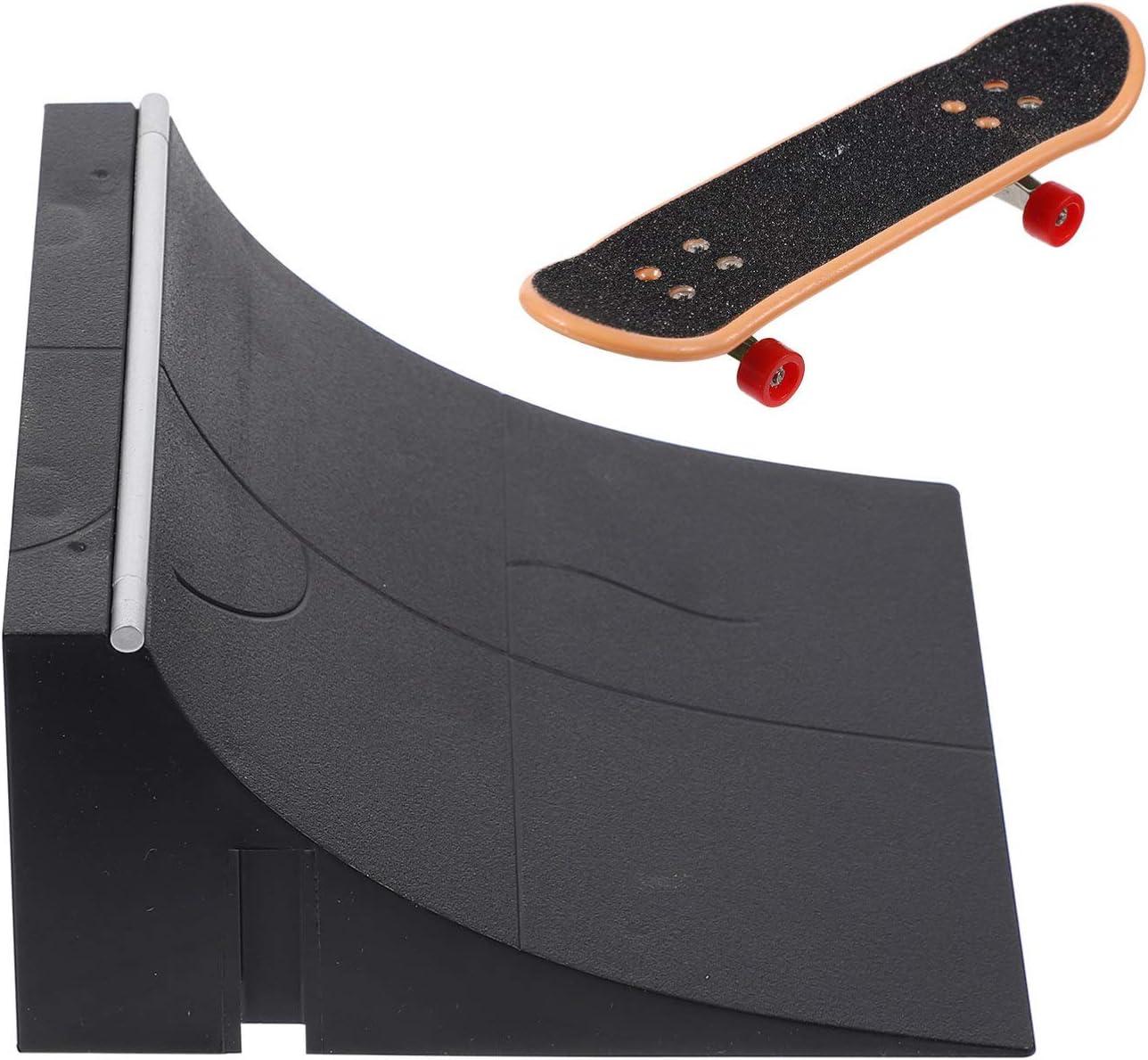 Toyvian Mini Fingerboard Skate Park Product for Skateb Ramp discount Parts Finger